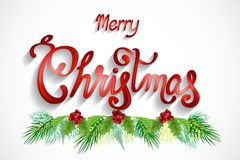 De kaart vectorbeeld van Kerstmisgroeten vector illustratie