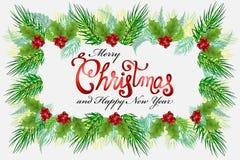De kaart vectorbeeld van Kerstmisgroeten stock illustratie