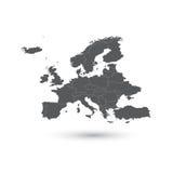 De kaart vectorillustratie van Europa Stock Foto's
