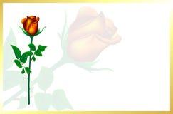 De kaart voor Valentijnskaartendag Beeld van liefde De thee nam toe Royalty-vrije Stock Afbeelding