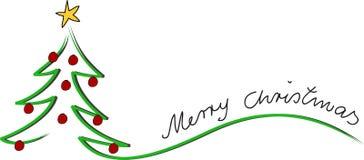 De kaart vrolijke Kerstmis van Kerstmis Stock Foto