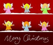 De kaart vrolijke Kerstmis van Kerstmis Royalty-vrije Stock Foto's