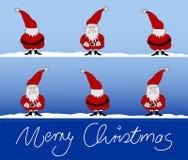 De kaart vrolijke Kerstmis van Kerstmis Stock Fotografie