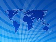 De kaartachtergrond 2 van de wereld Royalty-vrije Stock Foto