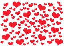 De kaartachtergrond van de Dag van valentijnskaarten met harten Royalty-vrije Stock Afbeelding