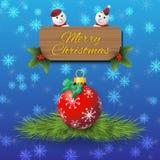 De kaartachtergrond van de Kerstmisgroet Stock Fotografie