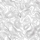 De kaartachtergrond van de lijn topografische contour naadloos vector illustratie