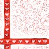 De kaartachtergrond van de valentijnskaart Royalty-vrije Stock Foto's