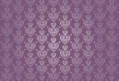 De kaartachtergrond van de violette valentijnskaart Stock Afbeeldingen