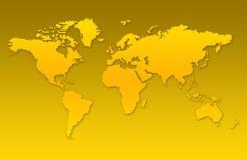 De kaartachtergrond van de wereld Stock Foto's