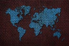 De kaartachtergrond van de wereld Stock Fotografie