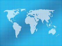 De kaartachtergrond van de wereld royalty-vrije illustratie