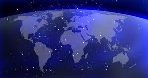 De kaartachtergrond van de wereld Stock Afbeelding