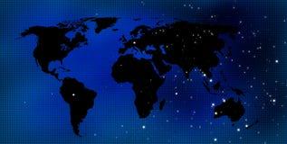 De kaartachtergrond van de wereld Royalty-vrije Stock Foto's