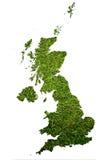 De kaartachtergrond van Engeland met grasgebied. Stock Afbeelding