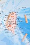 De kaartachtergrond van Taiwan stock fotografie