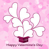 De kaartachtergrond van valentijnskaarten met hart Royalty-vrije Stock Afbeeldingen