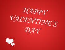 De kaartachtergrond van de valentijnskaartendag met hart Stock Foto's