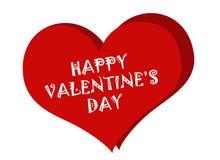 De kaartachtergrond van de valentijnskaartendag met hart Royalty-vrije Stock Afbeeldingen