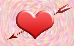 De kaartachtergrond van de valentijnskaartendag met hart Stock Afbeeldingen