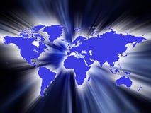 De kaartactie van de wereld Stock Afbeeldingen