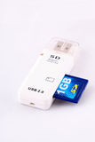 De kaartadapter van Usb BR Royalty-vrije Stock Foto's