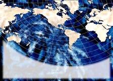 De kaartaffiche van de wereld Stock Foto