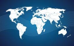 De kaartcomunication van de wereld Stock Foto's
