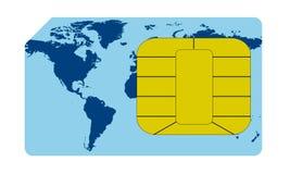 De kaartconcept van Sim Royalty-vrije Stock Afbeelding