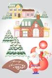 De kaartelementen van de Kerstmisgroet - vectoreps10 Royalty-vrije Stock Foto
