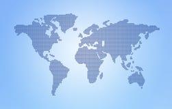 De kaart van de Wereld van de punt stock fotografie