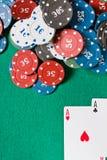 De kaarten en de spaanders van de pook Royalty-vrije Stock Afbeelding