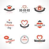 De kaarten van de Daggroeten van gelukkig Valentine Royalty-vrije Stock Afbeelding