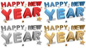 De Kaarten van de Groet van het nieuwjaar stock illustratie