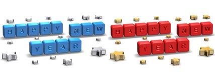 De Kaarten van de Groet van het nieuwjaar vector illustratie