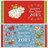 De Kaarten van de Groet van het nieuwjaar Stock Afbeelding