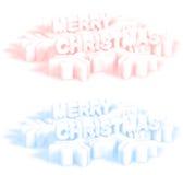 De Kaarten van de Groet van Kerstmis royalty-vrije illustratie