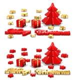 De Kaarten van de Groet van Kerstmis stock illustratie