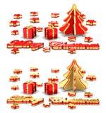 De Kaarten van de Groet van Kerstmis vector illustratie