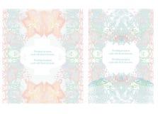 De kaarten van de huwelijksuitnodiging Stock Afbeelding