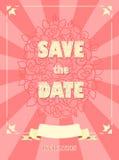 De kaarten van de huwelijksuitnodiging Stock Foto