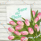 De kaarten van de huwelijksuitnodiging Eps 10 Stock Afbeeldingen