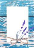 De kaarten van de malplaatjegroet Oude plank als achtergrond van hout Waterverfschets Stock Fotografie