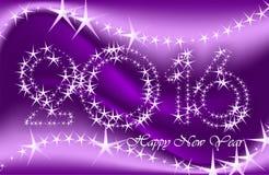 De kaarten van de nieuwjaargroet, prentbriefkaaren, kaart Gelukkig Nieuwjaar 2016 Royalty-vrije Stock Foto