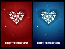 De kaarten van de valentijnskaart Stock Fotografie