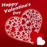 De Kaarten van de valentijnskaartendag Stock Afbeeldingen