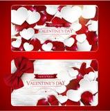 De kaarten van de valentijnskaartendag met boog Royalty-vrije Stock Fotografie
