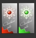De Kaarten van de Verkoop van Kerstmis Royalty-vrije Stock Afbeelding
