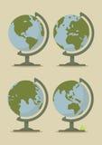 De Kaarten van de wereldbol Stock Foto's