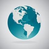 De Kaarten van de wereldbol - Vectorontwerp Stock Afbeelding